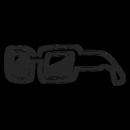 Icono de gafas de sol simples