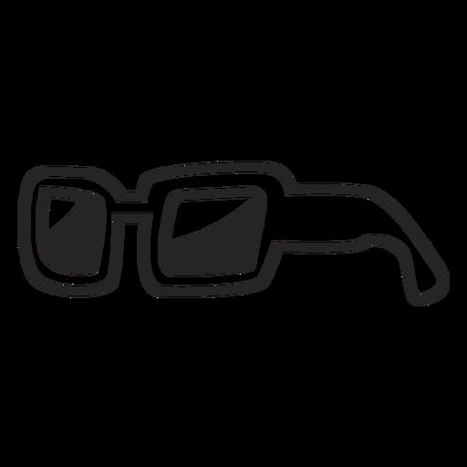 Icono de gafas de sol simples Transparent PNG