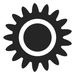 Tropical sun icon