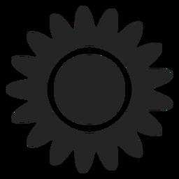 Tropische Sonne Symbol