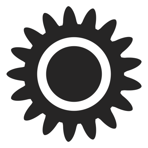 Tropical sun icon Transparent PNG