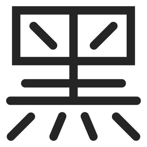 Chinese typography icon Transparent PNG