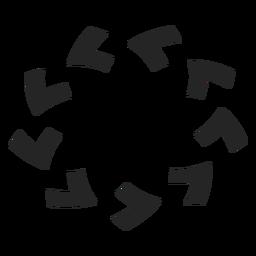 Ícone de círculo no sentido anti-horário