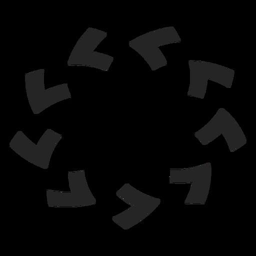 Counterclockwise circle icon