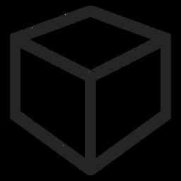 Icono de cubo de trazo