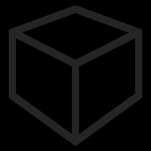 Icono de cubo de trazo Transparent PNG
