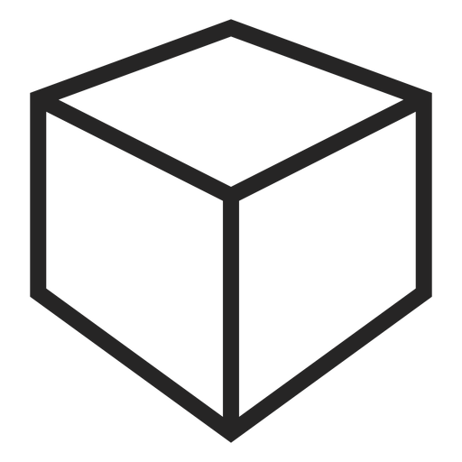 Stroke cube icon Transparent PNG