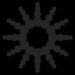 Gráfico de ícone de pontos