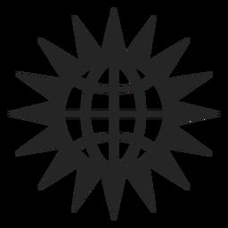 Icono de globo y sol