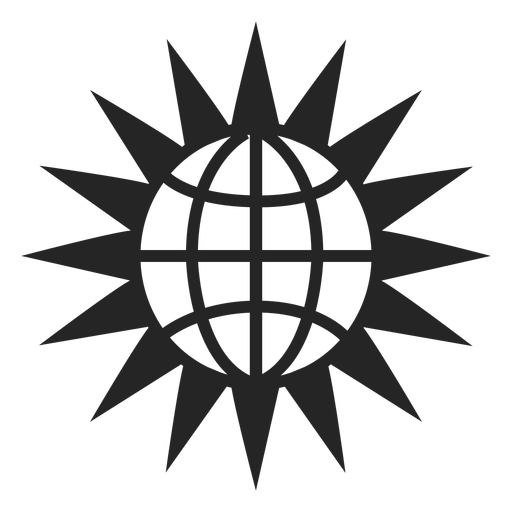 Globe and sun icon Transparent PNG