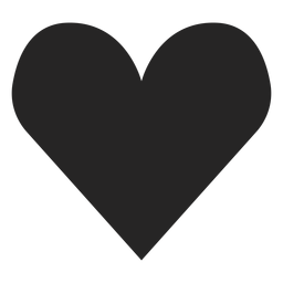 Herz-Silhouetten-Symbol