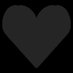 Icono del corazón silhoutte