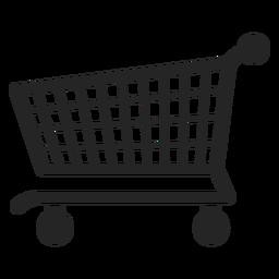 Schieben Sie die Warenkorb-Symbol-Grafik