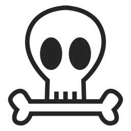 Icono de cráneo simple