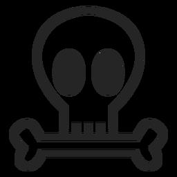 Simple skull icon