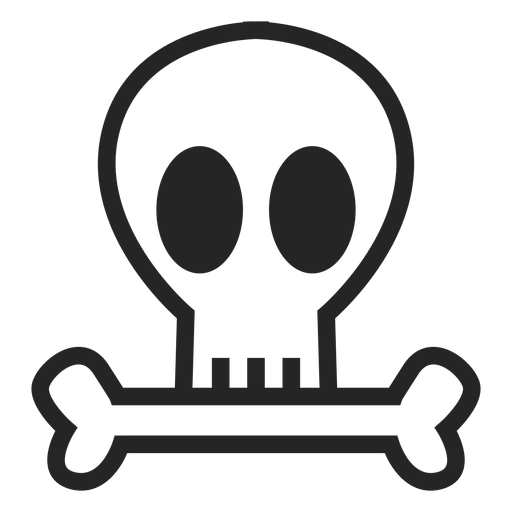 Simple skull icon Transparent PNG