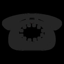 Icono de telefono simple