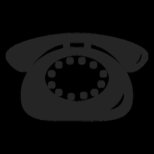 Icono de telefono simple Transparent PNG