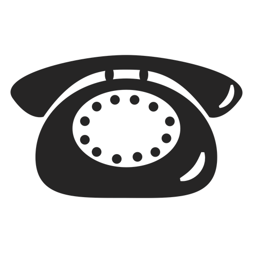 Simple telephone icon Transparent PNG