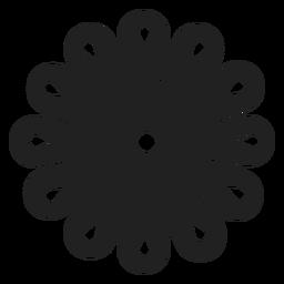 Icono de la flor del cortador