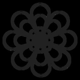 Icono de contorno de flor de dalia