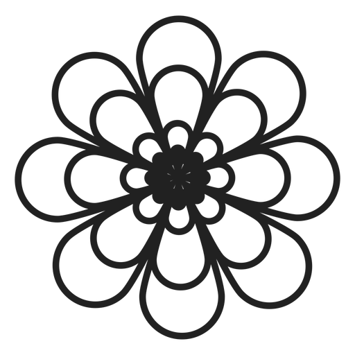 Dahlia flower outline icon Transparent PNG