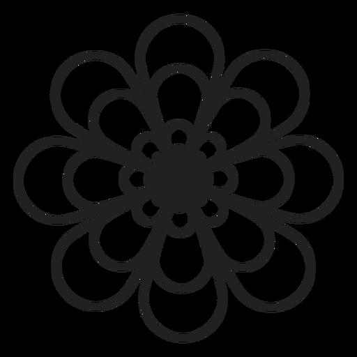 Dahlie Blume Umriss Symbol Transparent PNG
