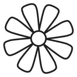 Daisy flower outline icon