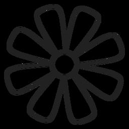 Ícone de contorno de flor margarida