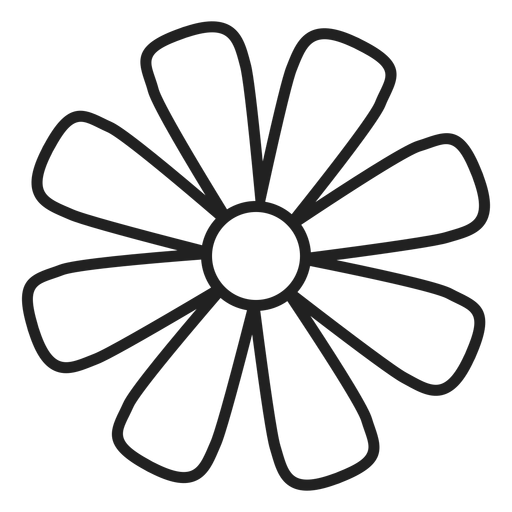 Daisy flower outline icon Transparent PNG