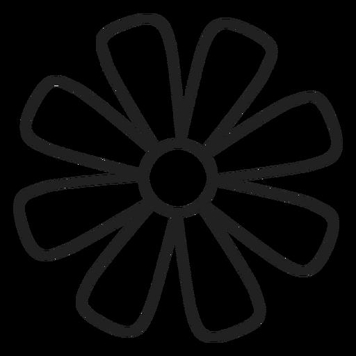 Icono de contorno de flor de Margarita Transparent PNG