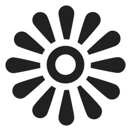 Daisy petal outline icon