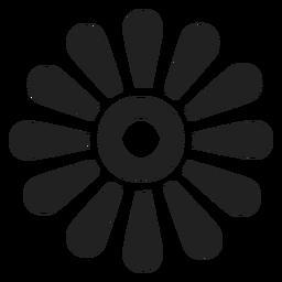 Ícone de contorno de pétala de margarida