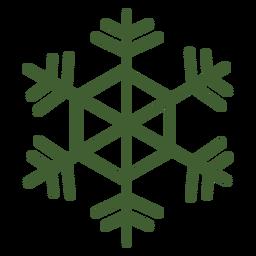 Icono detallado de copo de nieve