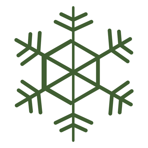 Detailed snowflake icon Transparent PNG