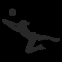 Cavar voleibol silueta