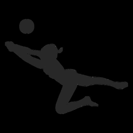Cavar silueta de voleibol