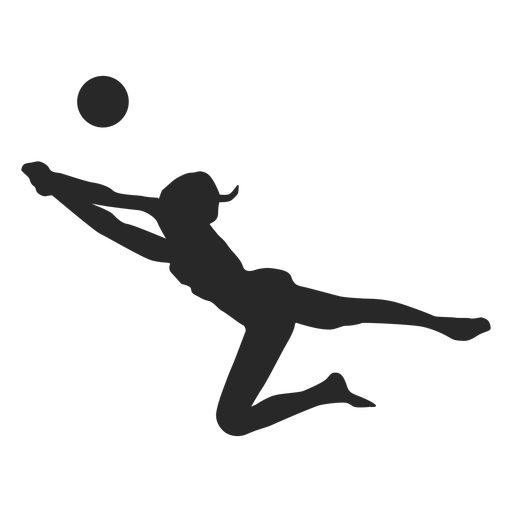 Dig volleyball silhouette Transparent PNG