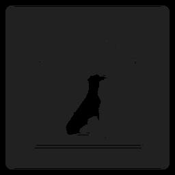 Ícones quadrados de gaiola de cão