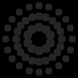 Gepunktetes gemustertes Symbol