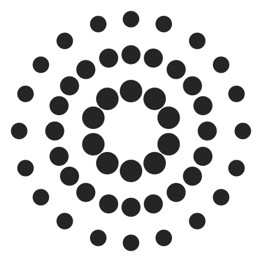 Dotted patterned icon Transparent PNG