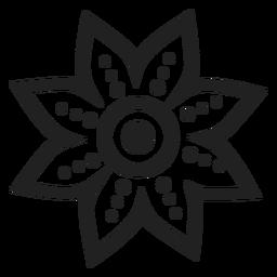 Icono de flor de pétalo punteado