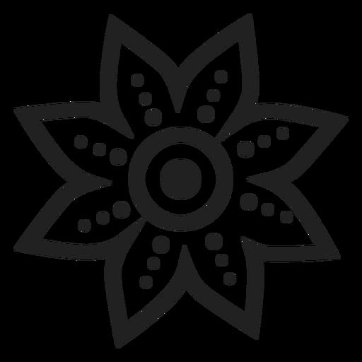 Icono de flor de pétalo punteado Transparent PNG
