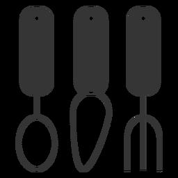 Icono de utensilios de comer