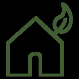 Ícone de casa ecológica