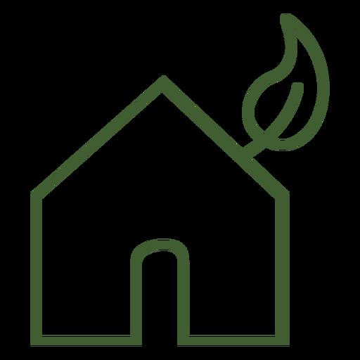 Ícone de casa ecológica Transparent PNG