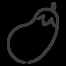 Berenjena icono de movimiento berenjena