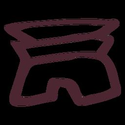 Egipto tradicional símbolo de jeroglíficos