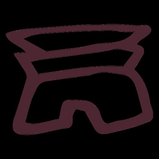 Símbolo dos hieróglifos tradicionais do Egito Transparent PNG