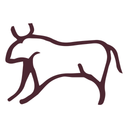 Símbolo de toro agresivo egipcio